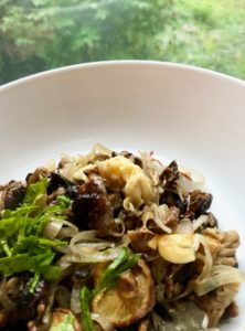 one pan mushrooms with miso butter